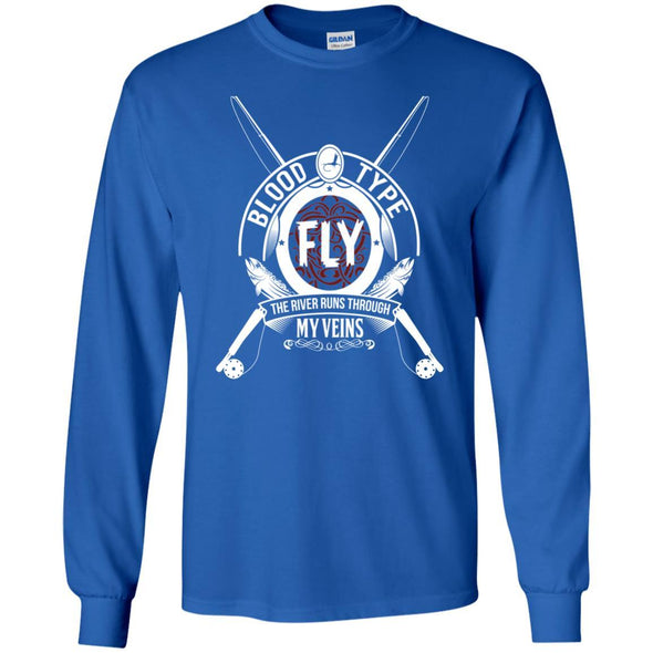 T-Shirts - Blood Type Fly Long Sleeve