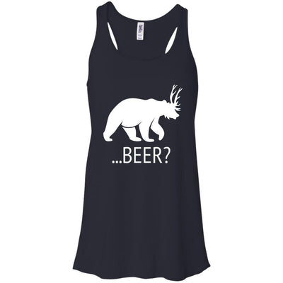 T-Shirts - Deer Bear Beer Flowy Tank