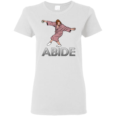 T-Shirts - Dude Abide Pose Ladies Tee