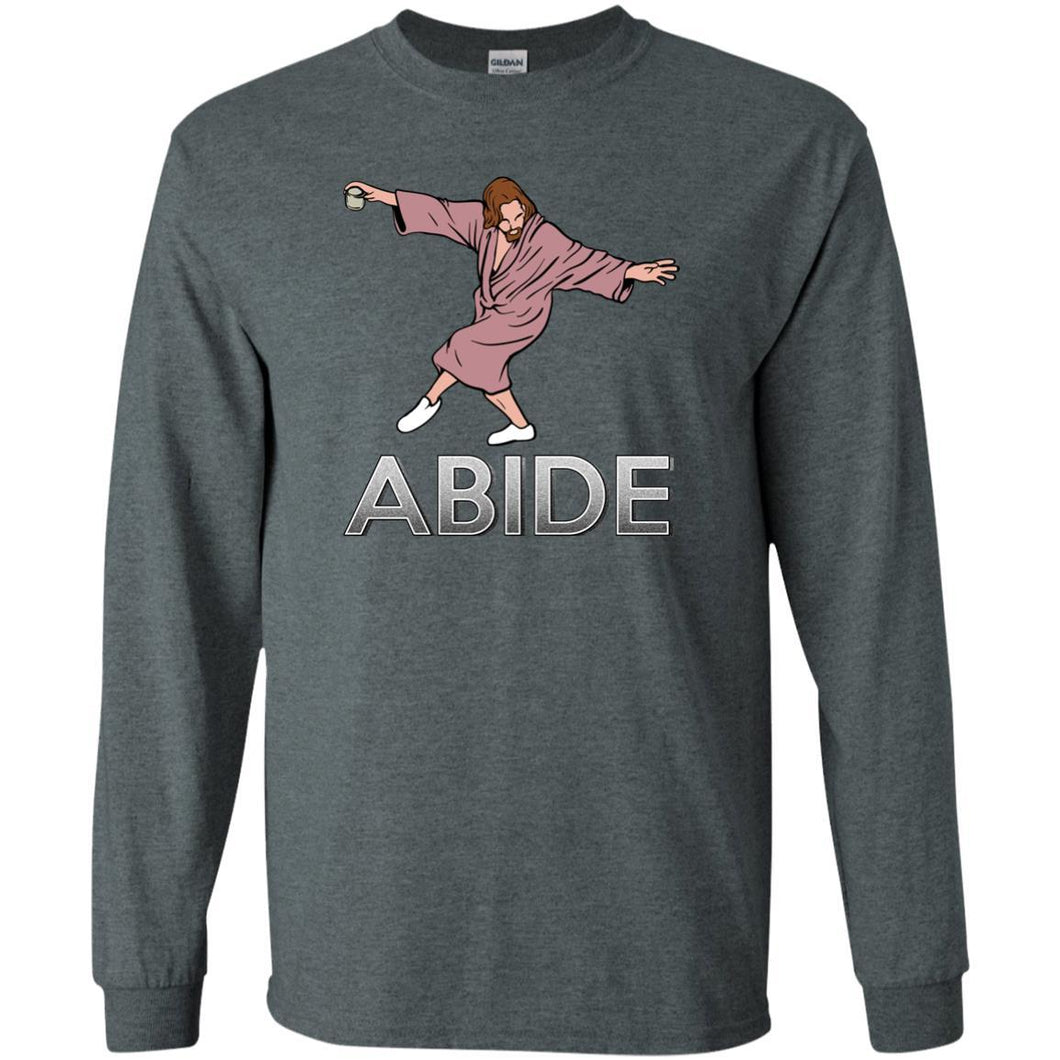 T-Shirts - Dude Abide Pose Long Sleeve