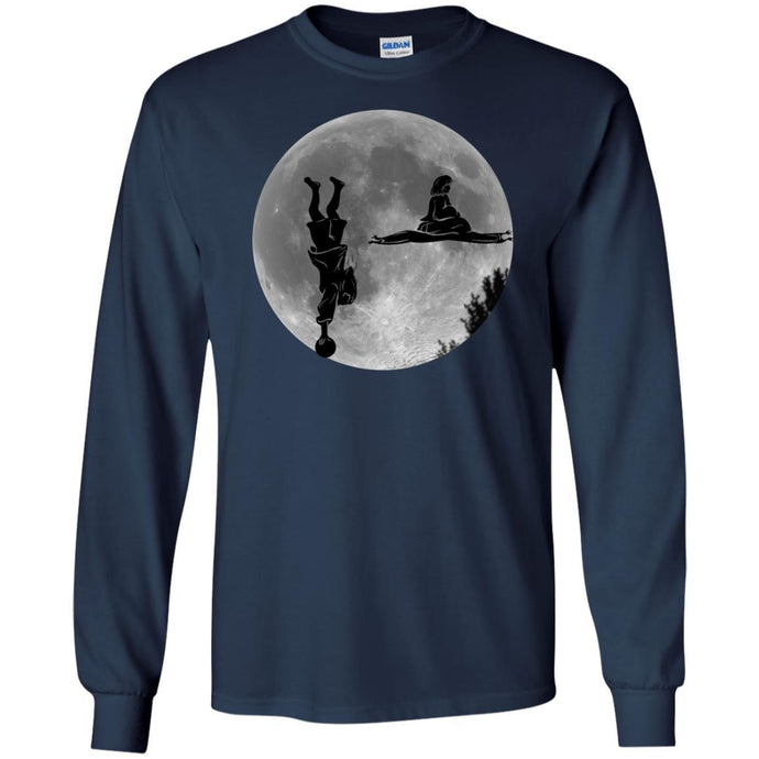 T-Shirts - Dude Maude Moon Long Sleeve