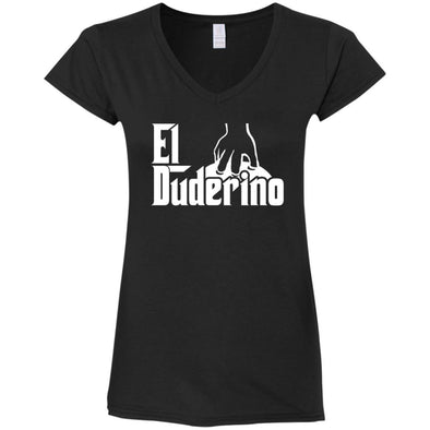 T-Shirts - El Duderino Godfather Ladies V-Neck