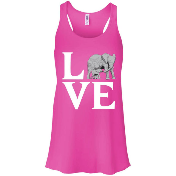 T-Shirts - Elephant Love Flowy Tank