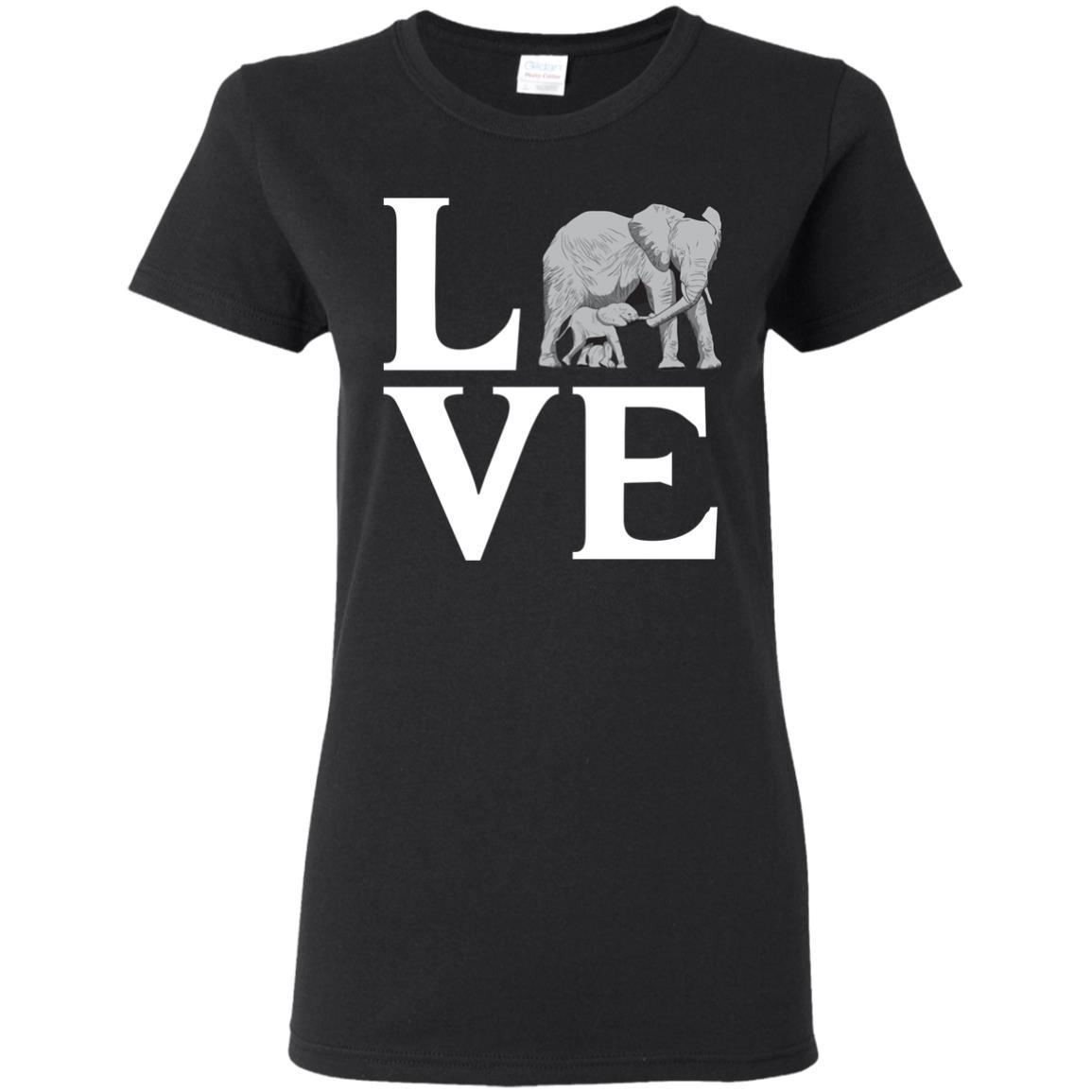 T-Shirts - Elephant Love Ladies Tee