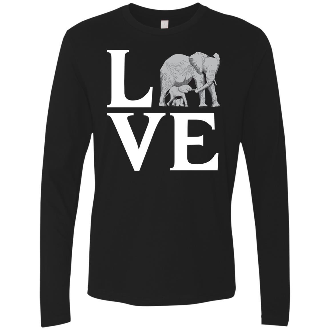 T-Shirts - Elephant Love Premium Long Sleeve