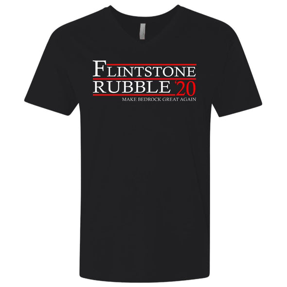 T-Shirts - Flintstone Rubble 20 Premium V-Neck