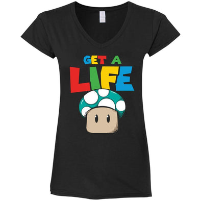 T-Shirts - Get A Life Ladies V-Neck