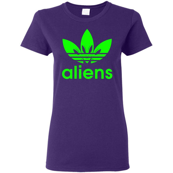 T-Shirts - Green Aliens (not Adidas) Ladies Tee