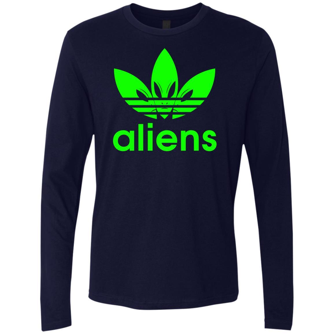 T-Shirts - Green Aliens (not Adidas) Premium Long Sleeve