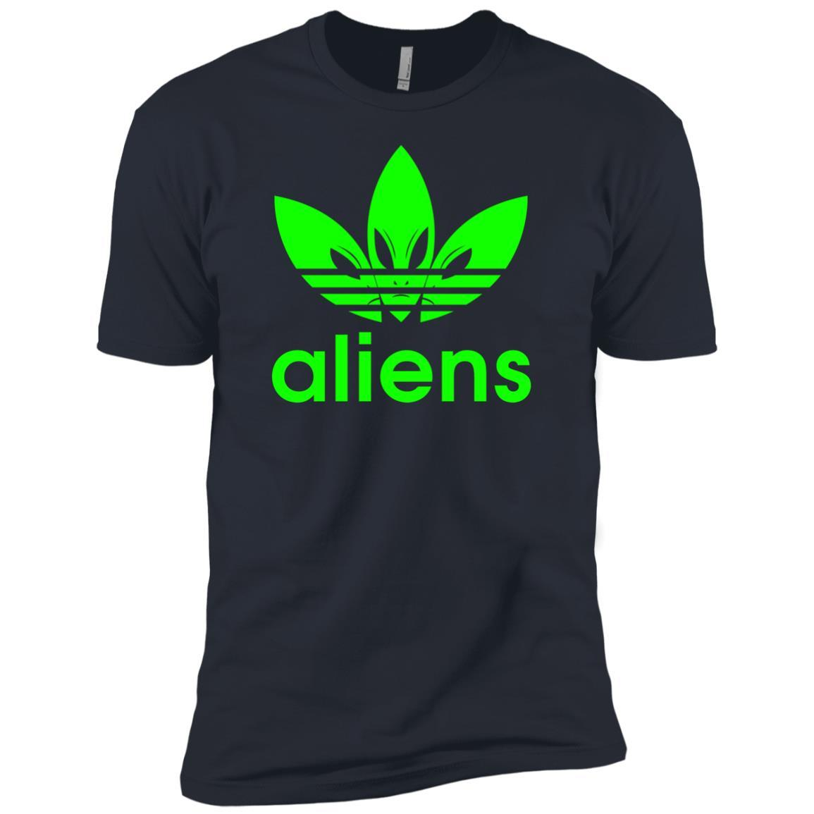 T-Shirts - Green Aliens (not Adidas) Premium Tee