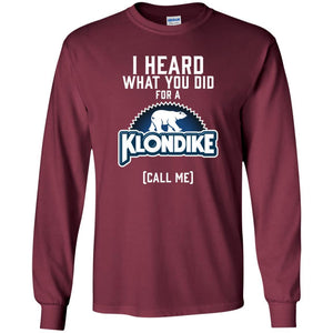 T-Shirts - Klondike Logo Long Sleeve