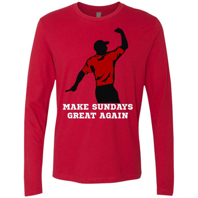 T-Shirts - Make Sundays Great Again Premium Long Sleeve