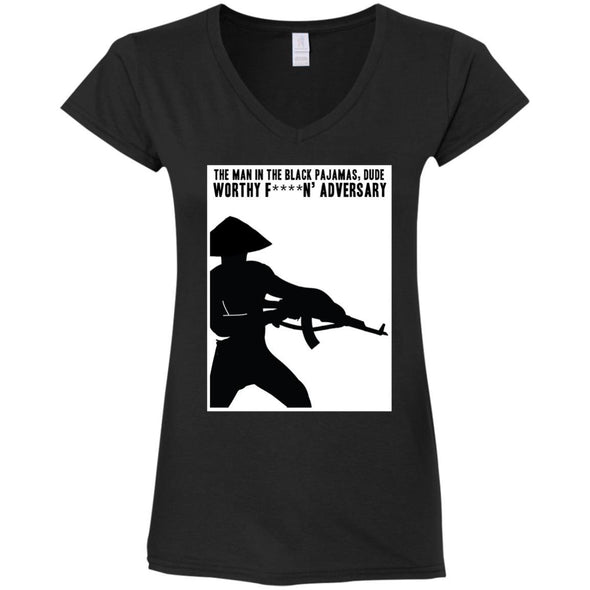 T-Shirts - Man In Black Pajamas Ladies V-Neck
