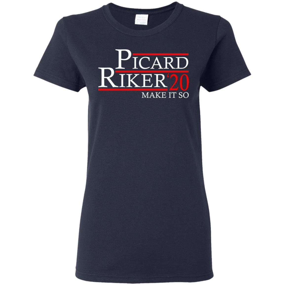 T-Shirts - Picard Riker 2020 Ladies Tee