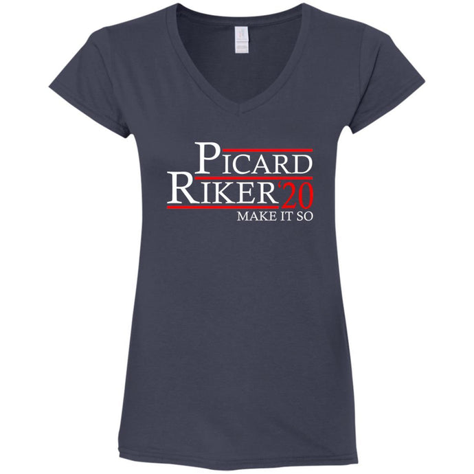 T-Shirts - Picard Riker 2020 Ladies V-Neck