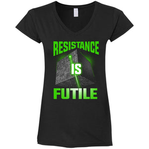 T-Shirts - Resistance Is Futile Ladies V-Neck
