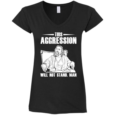 T-Shirts - This Aggression Ladies V-Neck