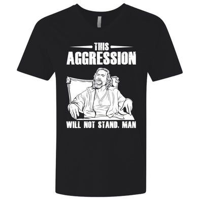 T-Shirts - This Aggression Premium V-Neck