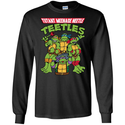 T-Shirts - Tutant Meenage Neetle Teetles Long Sleeve