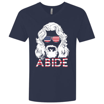 T-Shirts - USA Abide Premium V-Neck