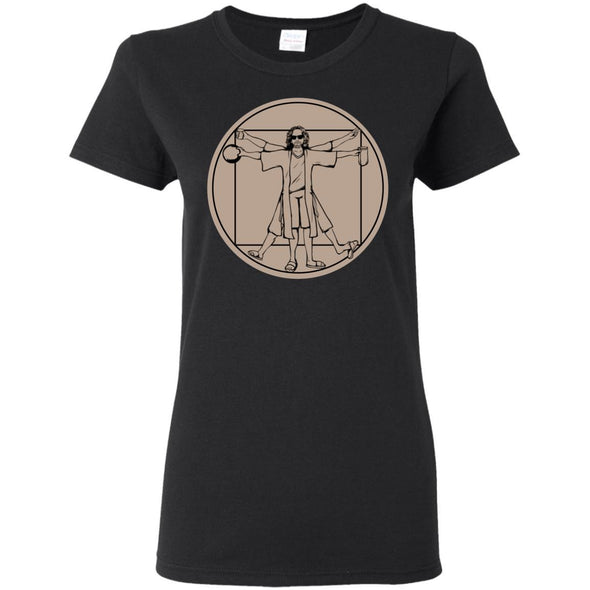 T-Shirts - Vitruvian Dude Ladies Tee