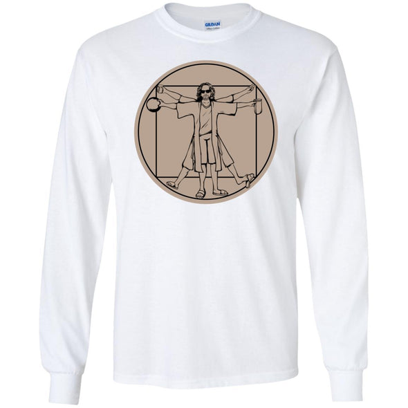 T-Shirts - Vitruvian Dude Long Sleeve