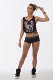 Regata Curta SuperSarada Destroyed Skull 1022 - SuperSarada Moda Fitness - Roupas para Academia