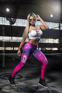 Legging SuperSarada Ice Phoenix 20004 - SuperSarada Moda Fitness - Roupas para Academia