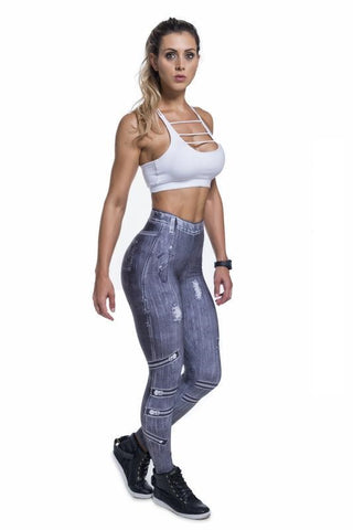 Legging Ice Black Jeans 20022 SuperSarada - SuperSarada Moda Fitness - Roupas para Academia