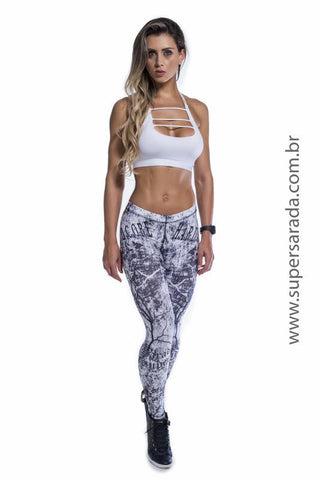 Legging SuperSarada Ice Black Thunder 20033 - SuperSarada Moda Fitness