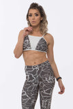 Top SuperSarada White Flower 2049 - SuperSarada Moda Fitness