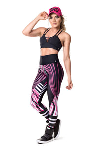 Legging Abstract Lines 20061 SuperSarada - SuperSarada Moda Fitness - Roupas para Academia