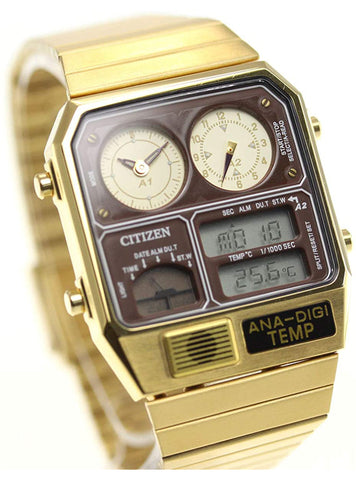 CITIZEN ANA-DIGI TEMP Reproduction Model Watch Silver JG2101-78E Japan mov't JDM