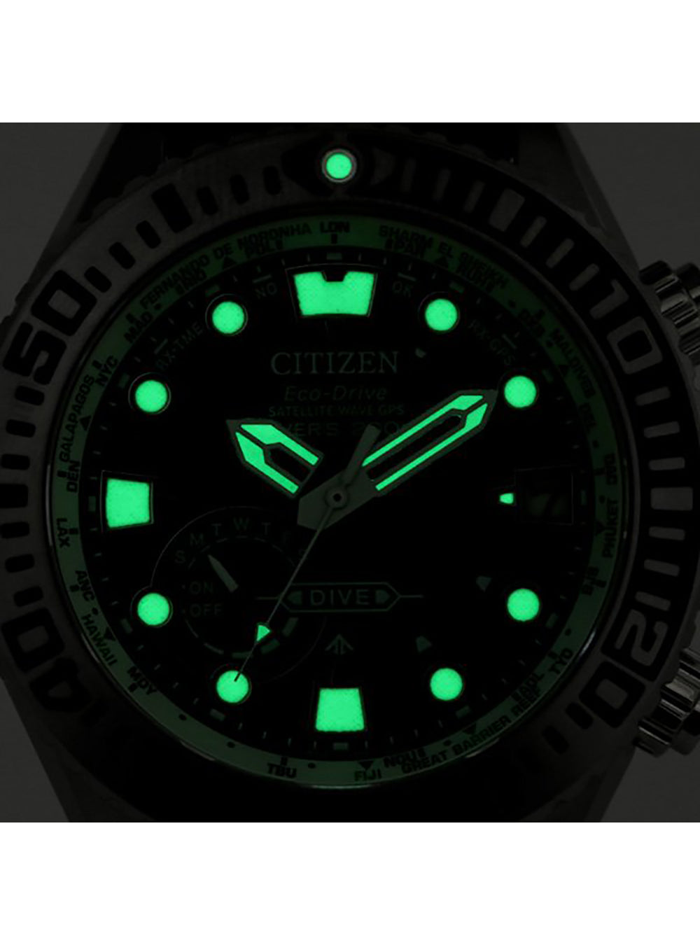 CITIZEN PROMASTER ECO-DRIVE SATELLITE WAVE GPS DIVER'S CC5001-00W MADE IN JAPAN JDM