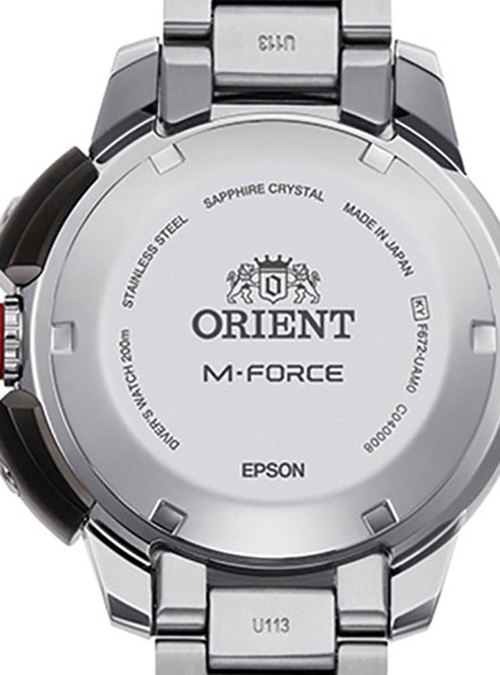 ORIENT M-FORCE SPORTS 70TH ANNIVERSARY RN-AC0L03B MADE IN JAPAN JDM