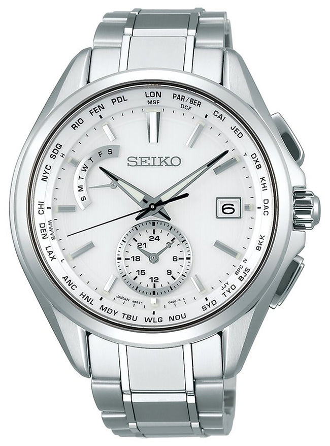 Seiko Brightz SAGA283 Radio Sync Solar Titanium Made in Japan