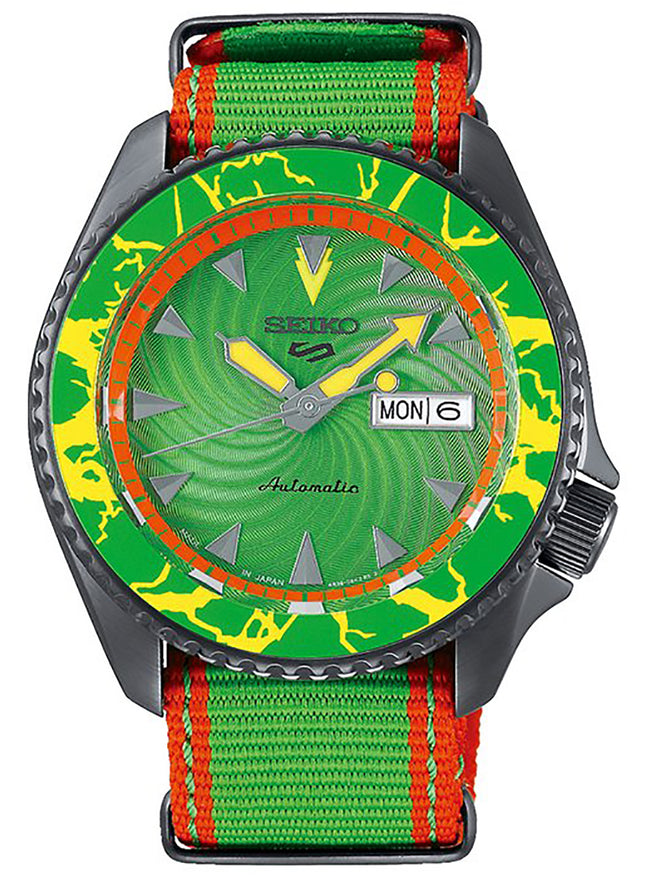 SEIKO 5 SPORTS STREET FIGHTER V LIMITED EDITION BLANKA MODEL SASB083 MADE IN JAPAN JDM