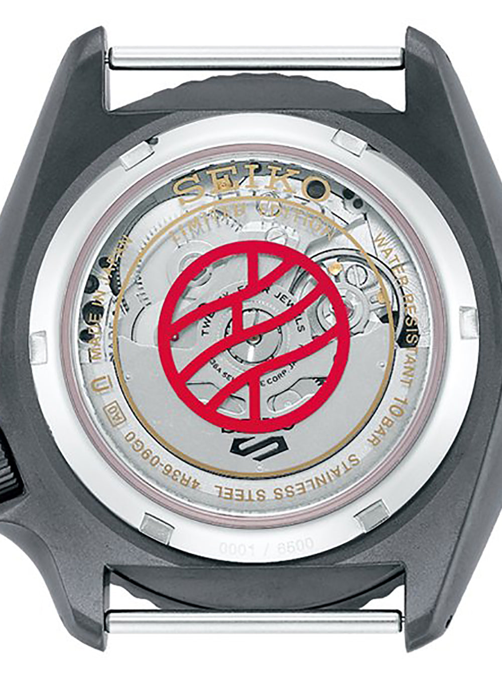 SEIKO 5 SPORTS NARUTO & BORUTO LIMITED EDITION SHIKAMARU NARA MODEL SBSA097 MADE IN JAPAN JDM