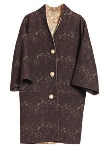 Print Wool Coat With Print Lining