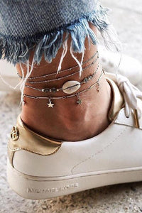 Shell Star Ankle Chians