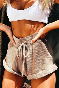 Solid Drawstring Shorts