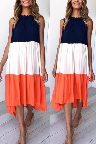 Color Block Sleeveless Dress