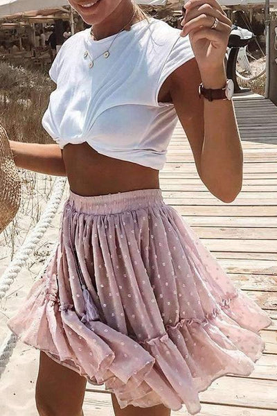 Pleated Elastic Skirts