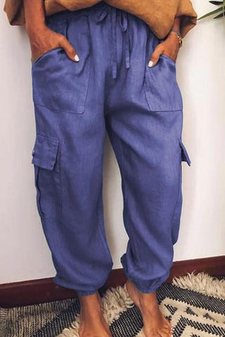 Pockets Drawstring Loose Pants