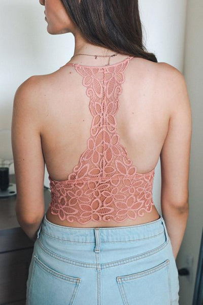 Lace T Back Bralette