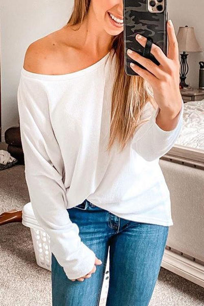 Dew Shoulder Long Sleeve T Shirt