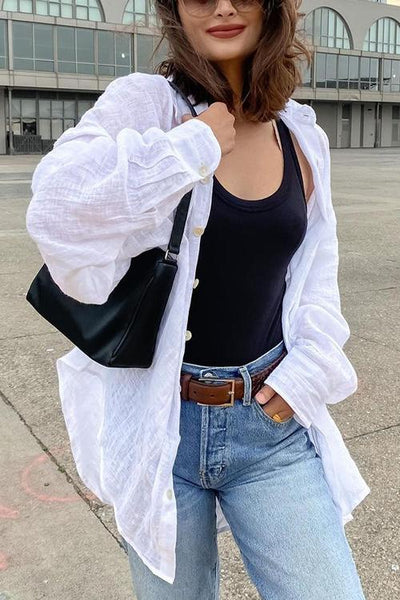 Versatile Classical Long Sleeve Cover Shirt