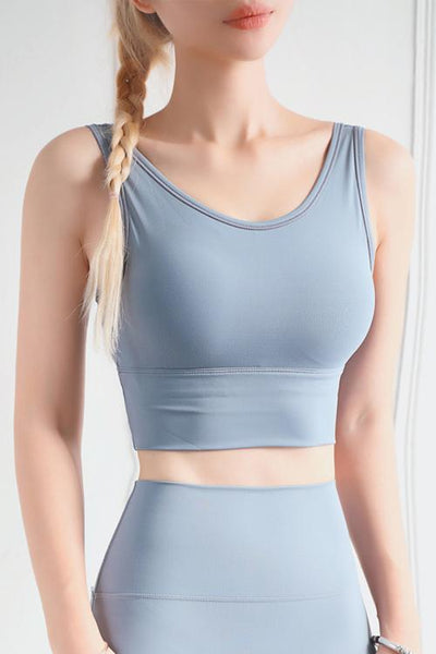 Solid U Back Sports Bra