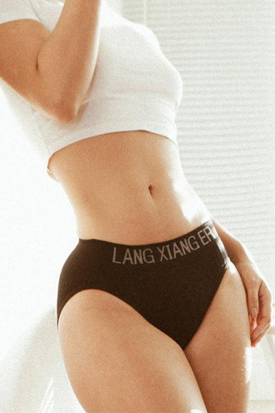 Letter Mid Waist Panty