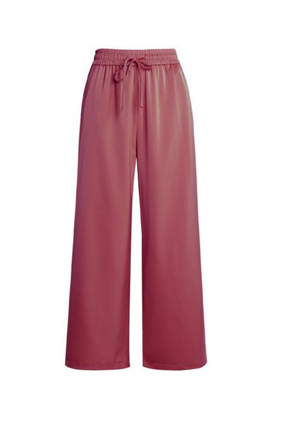 Smooth Drawwstring Wide Leg Pants